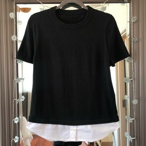 Kate Spade Black & White Short Sleeve Sweater